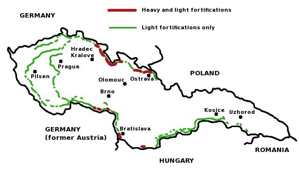 Map Of Germany And Czechoslovakia.Czechoslovak Fortifications Overview